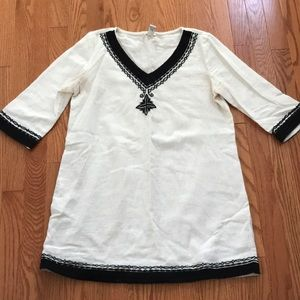Half Sleeve, Cream Tunic